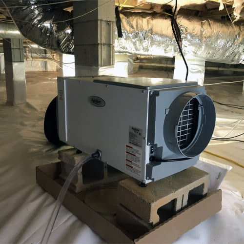 Sump pump installation in Lexington SC