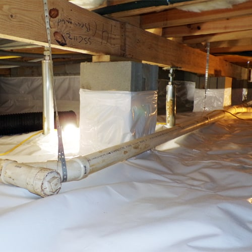 Eliminate excess moisture with a crawl space encapsulation system